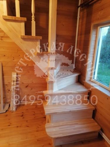 Лестница сосна + лиственница Звенигород