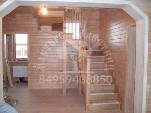 Деревянные лестницы из соссны можайск