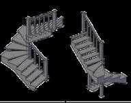 П - Образная с забежными ступенями