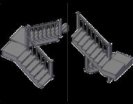 П - Образная с двумя площадками